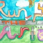 2nd Runner Up 2013 Run For The Arts T-Shirt Design Contest
