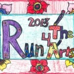 One of the Reedville Elementary Classroom Submissions for 2013 Run For The Arts T-Shirt Design Contest