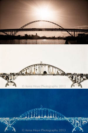 From photo to object to cyanotype print: three phases of Anna Hoye's work.
